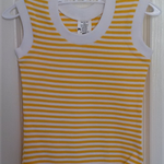 Baby Onesie 3-6 Months All-in-One Sleeveless Romper Yellow and White Stripe