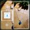 Gemstone Blue Agate necklace