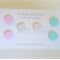 Pastel and marble polymer clay stud earring set