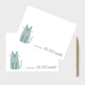 Teachers Notes. Set of 18 Personalised Note Cards. Many designs to Choose from!