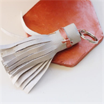 Grey & Copper tassel keyring