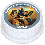Star Wars Rebels Personalised Round Edible Icing Cake Topper - PRE-CUT