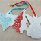 Christmas decorations. Ceramic tree ornaments. Teachers gift.