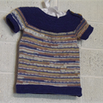 Hand Knit, 6mths, Baby Vest Shirt