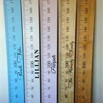 Baby pink timber personalised height ruler (height chart) your choice of name