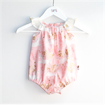Pink and Gold Unicorn Baby Girls Romper / Onesie / Playsuit