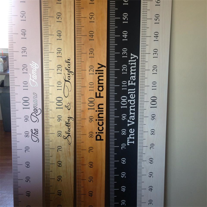 White wash timber personalised height ruler (height chart) your choice of  name  d474ad3b25e8