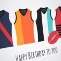 Male Birthday Card Male, Happy Birthday Card, AFL Footy Jerseys, HBM074