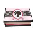 Silhouette in Pink Keepsake Trinket Treasure Jewellery Memory Wooden Box