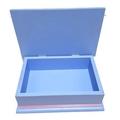 A Princess Gathering Keepsake Trinket Treasure Jewellery Memory Wooden Box Blue
