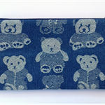 Denim Teddy Bear Pencil Case