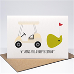 Birthday Card Male - Happy Birthday - Golf Cart - HBM075