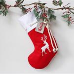 Large Personalised Christmas Stocking Red Reindeer
