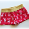 Reindeer Sparkly Christmas Girls Shorts Size 2