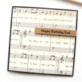 Handmade Birthday Card, Personalised Music Birthday Card, For Him, For Her, Teen