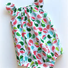 Little Birdie Christmas Seaside Baby Romper / Playsuit  Size 0 (6 - 12 months)