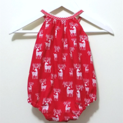 Reindeer Christmas Darling Playsuit / RomperSize 00 (3 - 6 months)