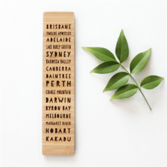 Australia Souvenir Bookmark | Bamboo | Stocking Filler Kris Kringle Gift