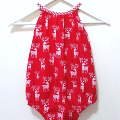 Reindeer Christmas Darling Playsuit / RomperSize 0 (6 - 12 months)