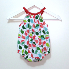'Little Birdie' Christmas Darling Playsuit / RomperSize 000 (0 - 3 months)
