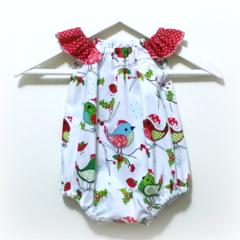 Hello Birdie Christmas Seaside Baby Romper / Playsuit  Size 000 (0 - 3 months)
