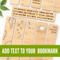 Custom Bookmark ADD TEXT laser cut birthday Christmas stocking filler teacher