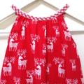 Reindeer Christmas Darling Playsuit / RomperSize 0 (6 - 12 months)