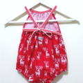 Reindeer Christmas Darling Playsuit / RomperSize 00 (3 - 6 months)