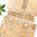Bamboo Bookmark Choose Your Own laser cut birthday Christmas stocking filler