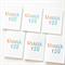 6 Thank You gift tags mini cards teacher