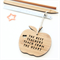Teacher Gift Decoration thank you ornament bamboo the best teachers teach apple