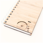 Notebook blank bike bamboo journal sketch book notepad diary guest