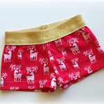 Reindeer Sparkly Christmas Girls Shorts