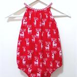 Reindeer Christmas Darling Playsuit / Romper Size 0 (6 - 12 months)