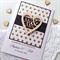 XLARGE CUSTOM Wedding Day black gold glitter lasercut wooden heart Mr & Mrs card