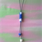 Blue and white marble tie pendant