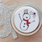 Christmas soy candle tin - Pink Apple & Vanilla - Snowman label