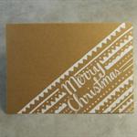 Original White Tribal Christmas Card