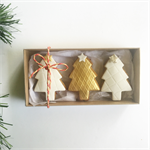 Christmas gingerbread gift box - gold + silver trees