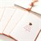 Christmas card tree bamboo star peach joy peace love happy new year