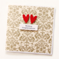 Wedding card vintage luxury bride groom commitment ceremony love
