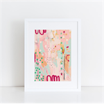 Pink Purslane - Contemporary Abstract A4 Giclée Print