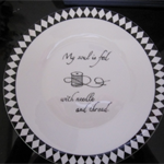 Hand painted Wedgwood plate - Sewing