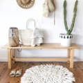 "Chunky Crochet Merino Rug ""The Little Dreamcatcher"""
