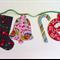Christmas Festive Garland, Designer Fabrics, Double Sided, Green Ties