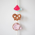 Doughnut felt hair clip, summer, yummy, sweets, accessory for a girl