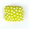 Lime Green and White Spot Cushion Cover. Funky Gift for Kids.