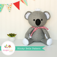 Blinky Belle Koala Pattern Stuffed Animal Softie PDF Sewing Pattern