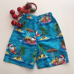 "Size 4 - ""Chillin' Santa"" Christmas Shorts"