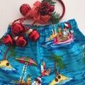 "Size 4 - ""Chillin' Santa"" Christmas Shorts"